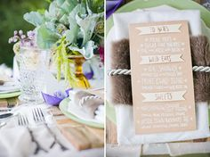 """""""Where the Wild Things Are?"""" inspired - menu and place card"""