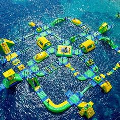 you're never too old for a waterpark in the sea, right? You'll find this in #Bol, #Croatia. @thegoodlifeinc