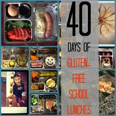 40 Days of Gluten Free School Lunches - The Paleo Mama www.thepaleomama.com