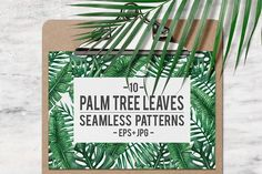 SALE! Palm leaves pattern by Karina Cornelius on @creativemarket
