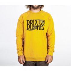 Brixton Clothing Mens Sweatshirt Coventry Gold