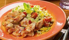 Den Bulgur-Geflügelsalat kannst du vielseitig servieren, ob als Snack zwischendurch, als Hauptgang oder als Beilage.