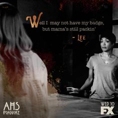 American Horror Story 6 // You won't catch Lee off guard. American Horror Story Coven, American Horror Show, Roanoke Nightmare, Being Human Uk, Finding Bigfoot, Holby City, Character And Setting, Anthology Series, How To Get Away