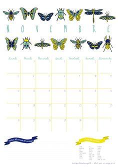 Calendrier Novembre et Décembre - Freeprintable - Liliaimelenougat - blog BD et bébé - blog maman et de fille - de l'illustration, de l'écologie et de l'humour