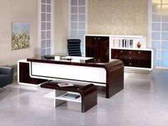 Best Executive Interior Design for Your Office. Best Executive Interior Design for Your Office. Office interior design for executives and tips on organizing and decorating the interior of the office. Office Table Design, Corporate Office Design, Office Furniture Design, Office Interior Design, Home Office Decor, Office Interiors, Home Interior, Home Decor, Office Counter Design