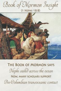 Much research has been conducted and gathered. Now, many scholars believe ancient ocean travel to the Americas was not only plausible, but might have happened many times. Learn how this compares to Nephi sailing to the Promised Land at http://www.knowhy.bookofmormoncentral.org/content/did-ancient-people-sail-the-seas  #knowhy #bookofmormon #mormon #lds #ocean #sea #sailing