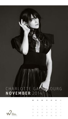 Charlotte Gainsbourg shot by Bryan Adams for Hear The World Foundation Calendar November 2014 Charlotte Gainsbourg, Kate Moss, Bryan Adams, Jane Birkin, Glamour, French Actress, Style Icons, Singer, Actresses