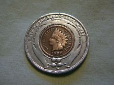 Rare 1906 Encased Indian Head Penny - Fuller Buggy Company