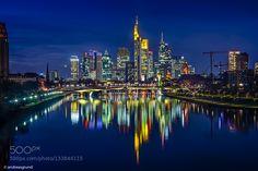 Frankfurt Skyline by dragrund. Please Like http://fb.me/go4photos and Follow @go4fotos Thank You. :-)