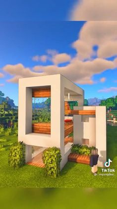 Minecraft Small Modern House, Minecraft House Plans, Minecraft Cottage, Easy Minecraft Houses, Minecraft House Tutorials, Amazing Minecraft, Minecraft Tips, Minecraft Tutorial, Minecraft Blueprints