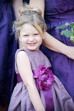 purple flower girl dress for A.