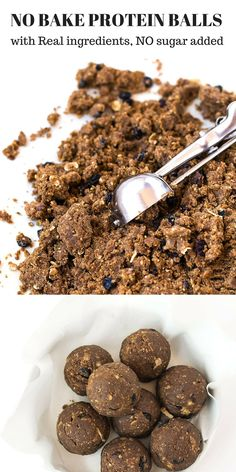 NO BAKE PROTEIN BALLS with Real Ingredients, No Sugar Added. Pre/Post Workout Snack, High Fiber and High Protein Food. Low Carb Diet Friendly Food #a2milk #IC #ad