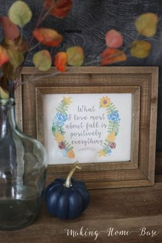 What I love most about fall printable vignette copy