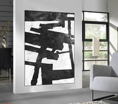 Huge Large Canvas prints add a unique touch to your home. Modern, stylish and unique design will be the most special piece of your decor. Especially for those who like abstract works, black and white acrylic painting can be prepared in desired sizes  large Abstract painting wall art, original Painting, large abstract canvas art painting, Black and White abstract art  16x24 (40x60cm) $75 20x30 (50x76cm) $110 30x40 (76x102cm) $180 36x48(92x122cm) $240 40x53.5(102x136cm) $310 45x60(115x153cm)…