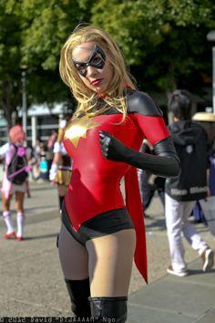 Character: Ms. Marvel (Karla Sofen, aka Moonstone) / From: MARVEL Comics 'Dark Avengers' / Cosplayer: Crystal Graziano (aka Precious Cosplay)