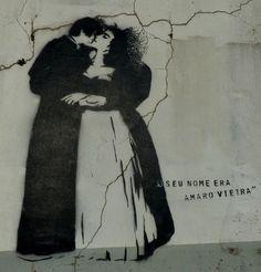 """Viajar e descobrir: Portugal - Leiria - Stencil street """"O seu nome era..."""