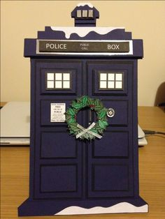 My doctor who Christmas Tardis - I'm so proud of this!!!! Check out how I made it - www.noodlechips.co.uk