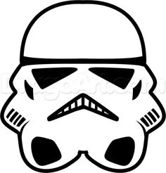 Stormtrooper easy, step by step, star wars characters, draw star wa Bolo Star Wars, Tema Star Wars, Star Wars Bb8, Star Wars Cake, Star Wars Pinata, Star Wars Cookies, Star Wars Birthday Cake, Boy Birthday, Birthday Ideas