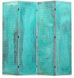A MATS THESELIUS COPPER ROOM DIVIDER WITH A GREEN PATINA, KÄLLEMO SWEDEN POST 1989