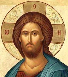 Χριστός Byzantine Icons, Byzantine Art, Religious Icons, Religious Art, Sign Of The Cross, Jesus Face, Russian Icons, Spirited Art, Biblical Art