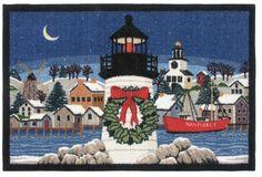 """Claire Murray washable rug. Nantucket Christmas. 30"""" x 46"""" $79.99 Nantucket Christmas"""