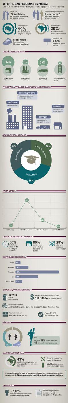 O raio X das pequenas empresas brasileiras - mercado, números, setores, atividades, perfil do PM empresário, região (fontes: Sebrae, Serasa, Receita Federal, MPE Data, IBGE)