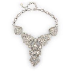 C. Wonder Vintage Deco Crystal Statement Necklace