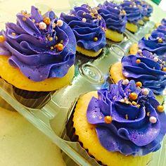 Royal Purple Cupcakes
