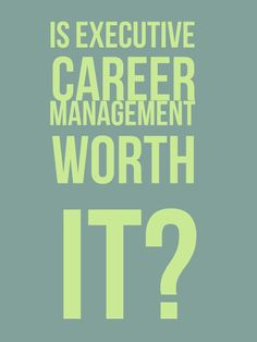 More firms are marketing themselves as executive career management services. Are they worth the cost? https://www.lifecoachhub.com/coaching-articles/is-executive-career-management-worth-it