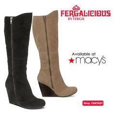 Nothing beats a #beautiful #tall #boot this time of year. Look like a dream come true in the #Fergalicious by #Fergie FANTASY #wedge #boots at @Macy's Official!