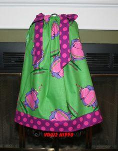 Valentine Pillowcase dress with Hippo VD012 by GiraffesJellybeans, $19.99