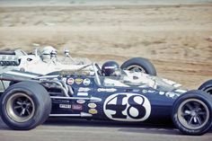 Dan Gurney at the 1968 Rex Mays 300. Dan won from Pole in one of his Eagles.