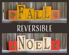 The Funky Monkey Giveaway!  Win these Fall/Noel Reversible Wood Blocks or Rustic Wood Pumpkins from White Aspen Studio Giveaway - 2 WINNERS!
