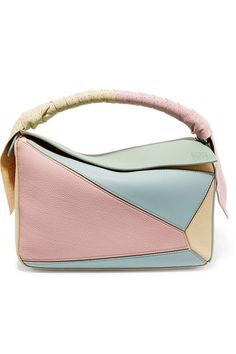 LOEWE Puzzle color-block leather shoulder bag