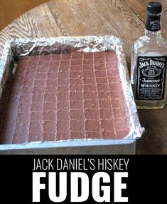 Fun DIY Ideas Made With Jack Daniels - Recipes, Projects and Crafts With The Bottle, Everything From Lamps and Decorations to Fudge and Cupcakes |  Jack Daniels Hiskey Fudge   |   http://diyjoy.com/diy-projects-jack-daniels
