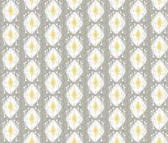 Driftwood Dream Grey/Citron fabric by lulabelle on Spoonflower - custom fabric