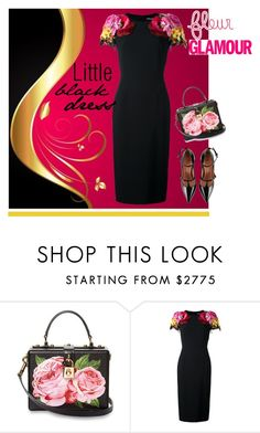 """""""Little Black Dress"""" by elena-viola-1 ❤ liked on Polyvore featuring Dolce&Gabbana and RED Valentino"""