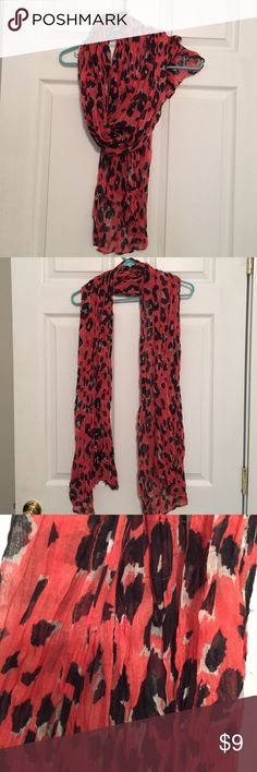 Forever 21 scarf 100% polyester. Pink and navy cheetah print. Forever 21 Accessories Scarves & Wraps