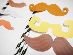 6 Piece Beard Mustashe Set Photobooth Props Set  Photo by catang, $12.00