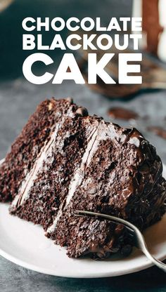 Blackout Chocolate Cake | the best chocolate cake with a chocolate chip exterior just to be a little OMG.