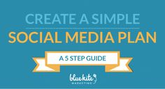 5 Steps to Creating a Simple Social Media Plan - our free eBook asks five simple questions to help you build the foundation for your social media efforts. Get it here!