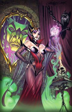 Fairy Tale Fantasy Series - by J. Scott Campbell These are a couple years old now… but still well worth the post. Some of Campbell's best work, I think. Maleficent, Goldilocks, The Princess and the Pea, Ariel
