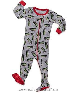 Baby Boy Clothes Leveret Train Footed Pajama 12-18 Months