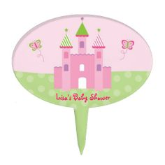 Shop Princess Castle Fairy Tale Baby Shower Cake Topper created by PoshPartyPrints. Castle Party, Baby Girl Cakes, Princess Castle, Personalized Cake Toppers, Baby Shower Cakes, Fairy Tales, Cakes Baby Showers, Fairytail, Adventure Movies