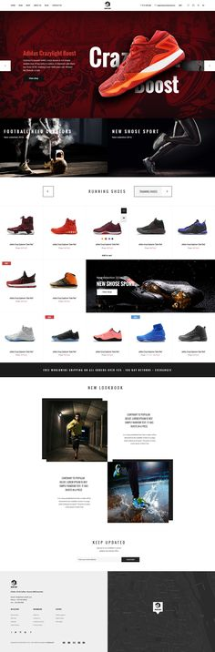 MoodShop - Modern eCommerce PSD Template for Selling Footwear Online by digipieces
