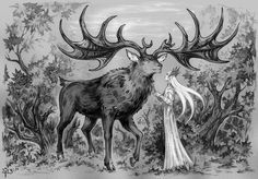 Elvenking and his Elk. by Candra.deviantart.com on @deviantART