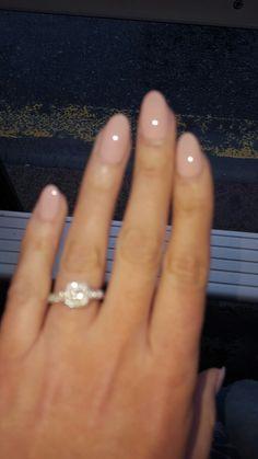Nude wedding nails DND whipped papaya