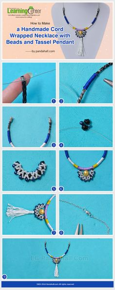 How to Make a Handmade Cord Wrapped Necklace with Beads and Tassel Pendant for Men from LC.Pandahall.com