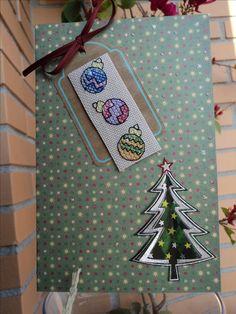Tarjeta Navidad tres globos