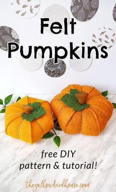 These felt pumpkins would make a pretty addition to any fall decor!Laura at The Yellow Birdhouse shows how she made these beautiful felt pumpkins and even has a free pattern you can download. Looking for Fall decorating items? Check … Read more ...